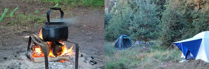 Чайник-на-костре-и-палатки